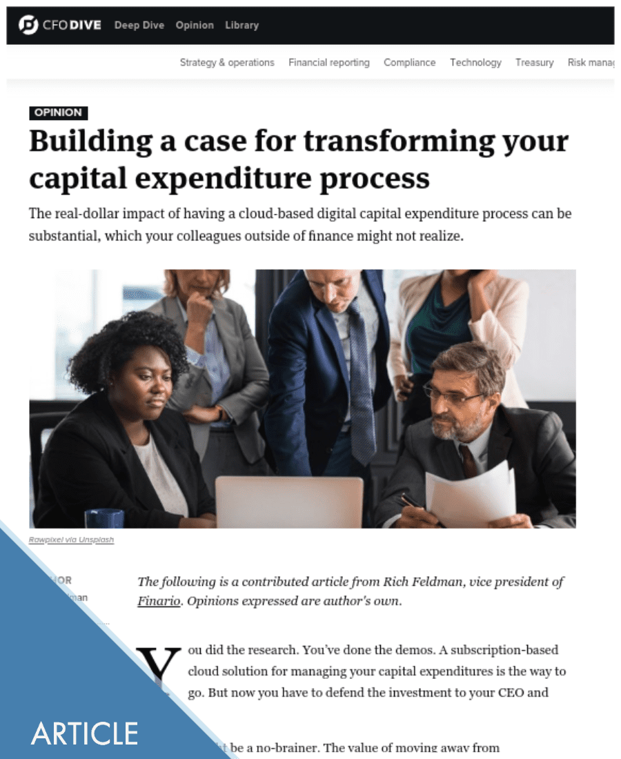Building a business case for Capex digital transformation