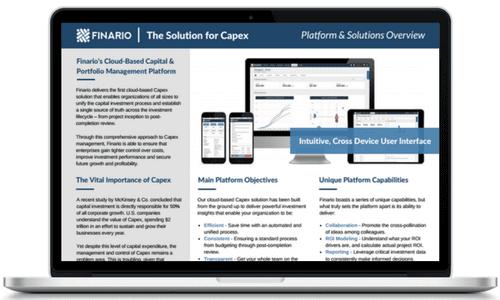 Finario cloude-based capital & portfolio management