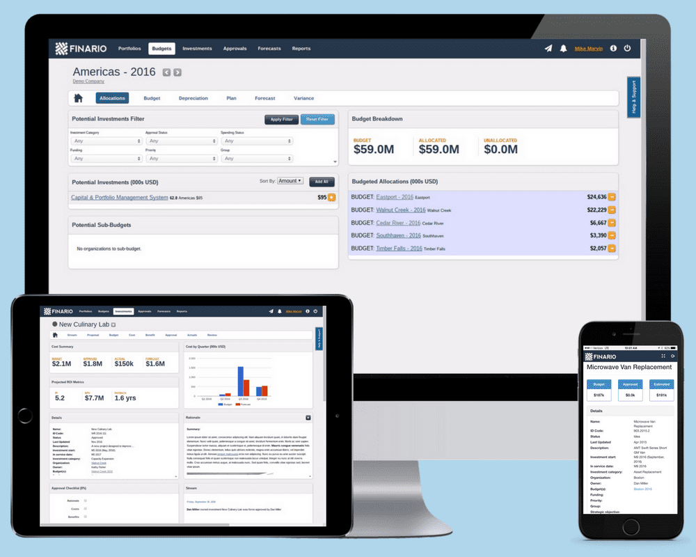 Powerful capital budgeting software in the cloud