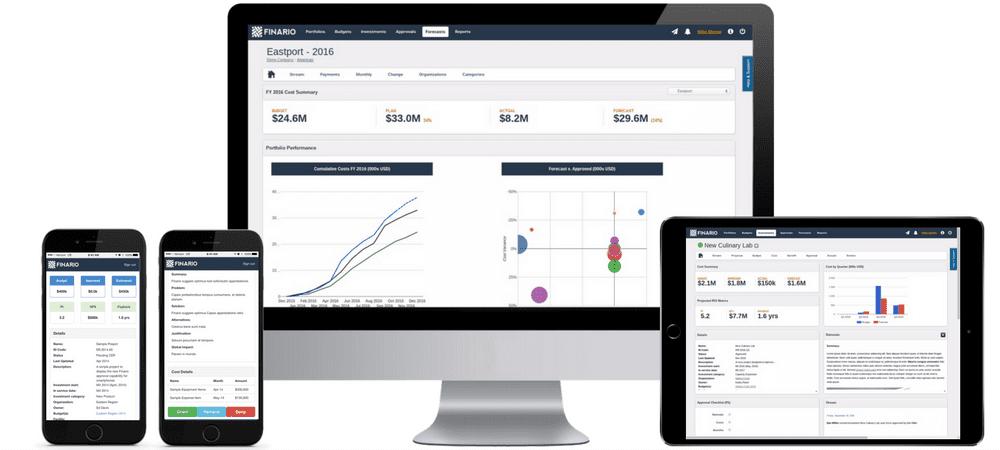 Finario's capex solution enables cross device collaboration