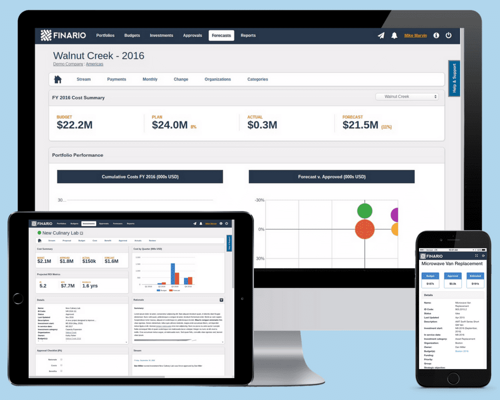 Introducing value-driven project forecasting by Finario