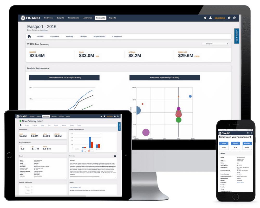 Tour Finario's Capex management platform