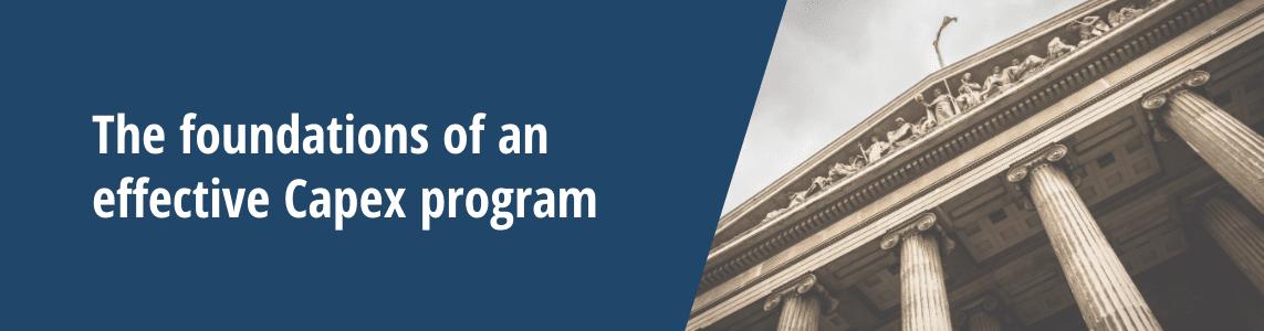 foundations of effective capex program