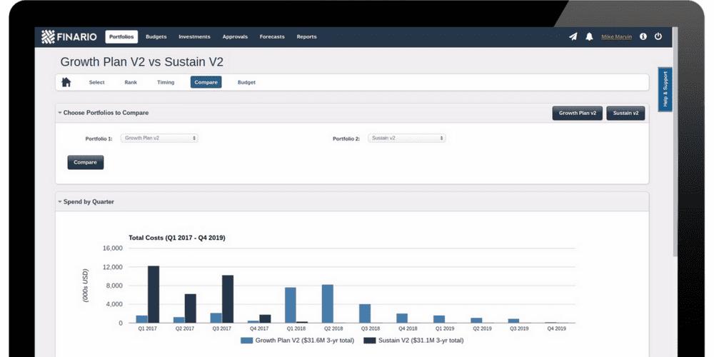 Finario capital planning software enables portfolio optimization